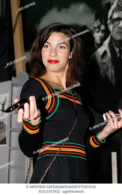 "British actress and musician NATALIA TENA arrives for Athens premiere of """"10.000 km-Long Distance"""""
