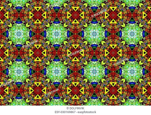 Ethnic pattern. Abstract kaleidoscope fabric design texture