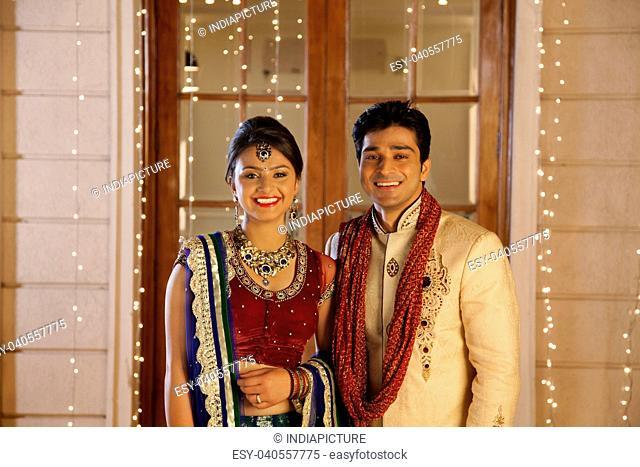Portrait of couple smiling