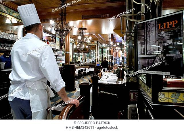 France, Paris, Saint Germain des Pres District, the Brasserie Lipp