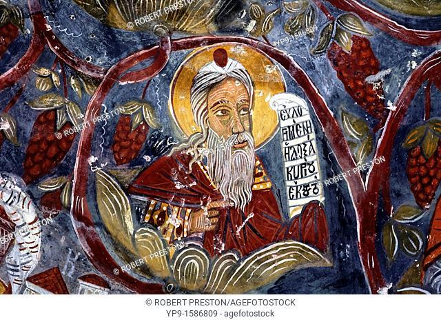 Fresco at the Sumela monastery, Trabzon Province, Turkey
