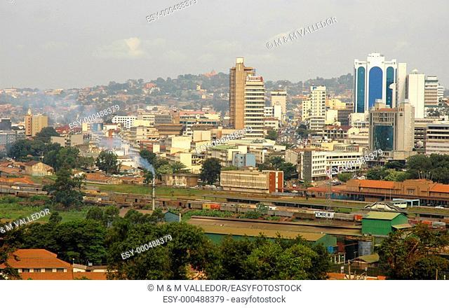 Kampala cityscape, Uganda