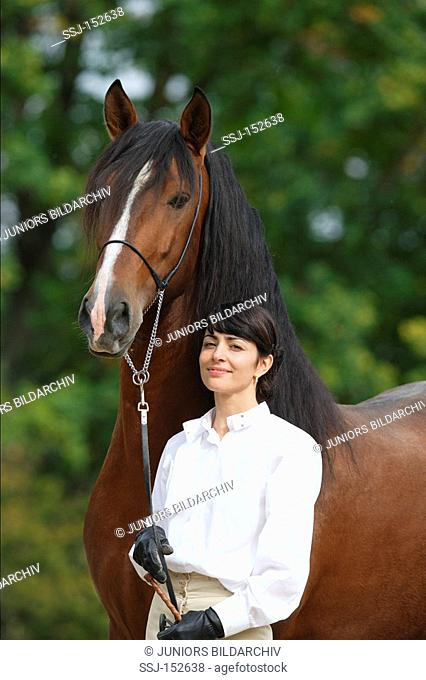 woman with Lusitano horse