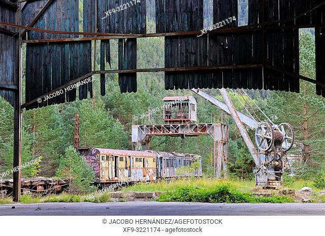 Ruins of the Canfranc International Train Station in the Pyrenes. Canfranc. Huesca province. Aragón. Spain