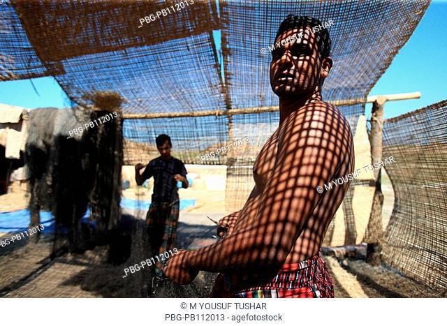 Fishing at Dubla IslandDubla Island located at the southern border of the Sundarban facing the Bay of Bengal of Bangladesh Fishing time in this island October...