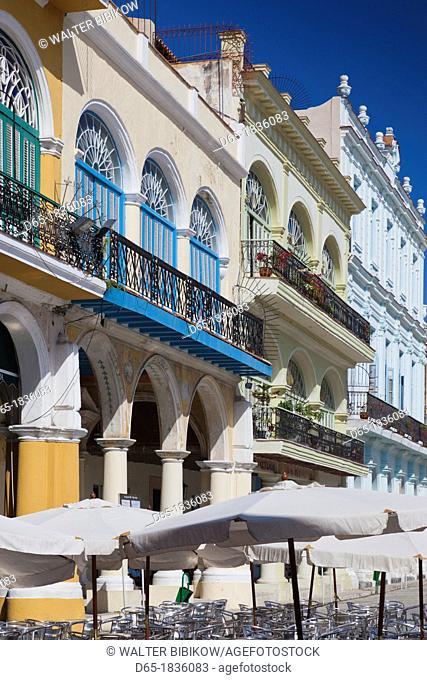 Cuba, Havana, Havana Vieja, Plaza Vieja, renovated buildings
