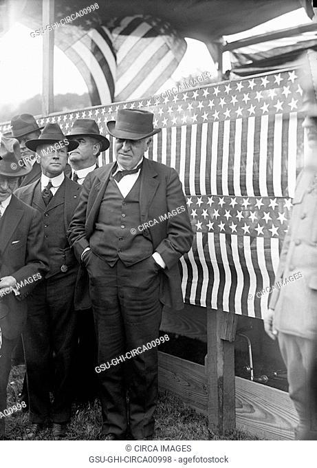Thomas Edison, Portrait, USA, circa 1916