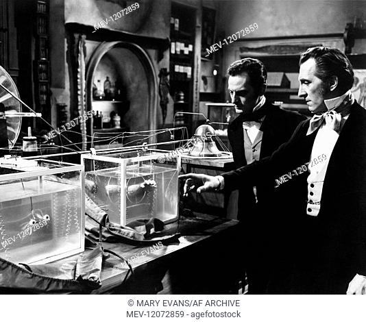 'Francis Matthews & Peter Cushing Characters: Dr. Hans Kleve & Dr. Victor Stein Film: The Revenge Of Frankenstein; Blood Of Frankenstein; I Frankenstein (1959)...