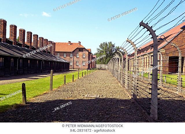 The Auschwitz concentration camp, Oswiecim, Poland, Europe