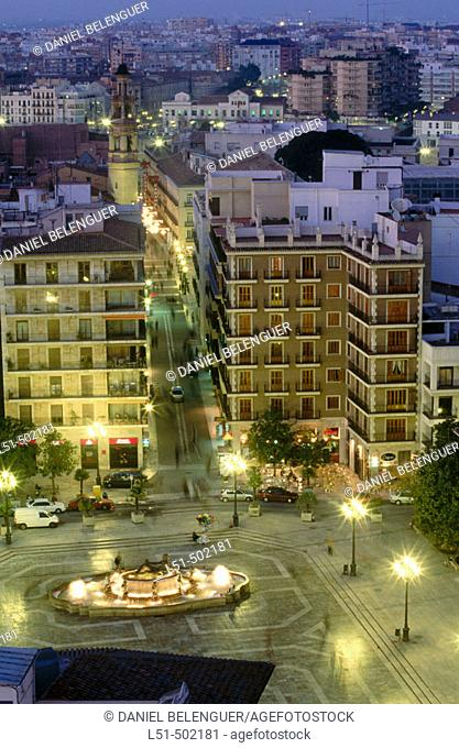 Plaza de la Virgen from above. Valencia. Spain
