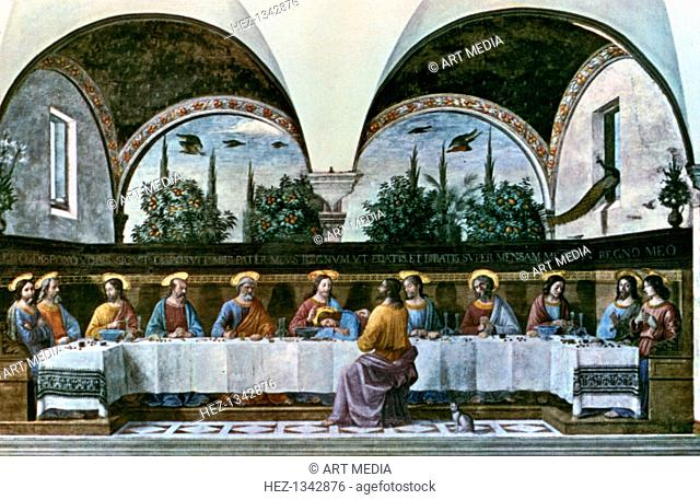 'The Last Supper', 1480. Found in the Convent of San Marco, Refectory, Florence, Italy