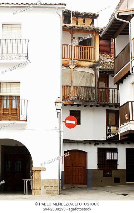 Corner in the Main square of Villanueva de la Vera, Caceres, Spain