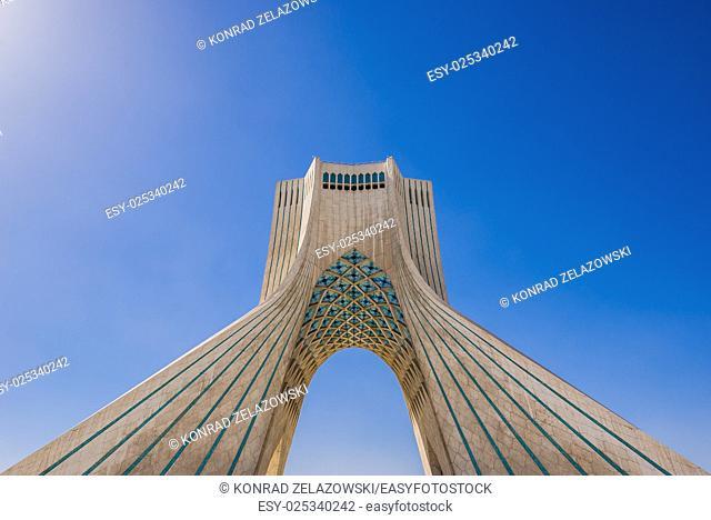 Azadi Tower in Teheran city, Iran
