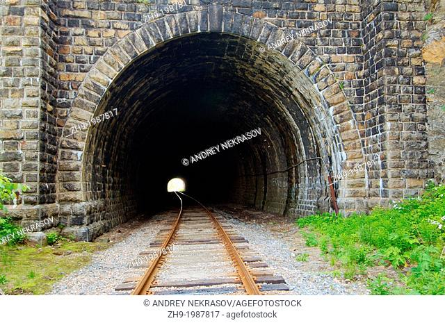 tunnel, Circum-Baikal Railway, Lake Baikal, Irkutsk region, Siberia, Russian Federation