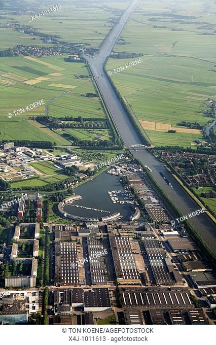 Aerial photos taken above The Netherlands