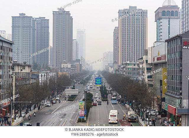 Urban development in the centre of the city, Xian, Shaanxi province, China