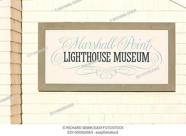 lighthouse museum, Marshall Point, Maine, USA