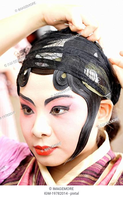 Chinese traditional opera character dressing