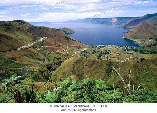 Toba lake. Sumatra. Indonesia