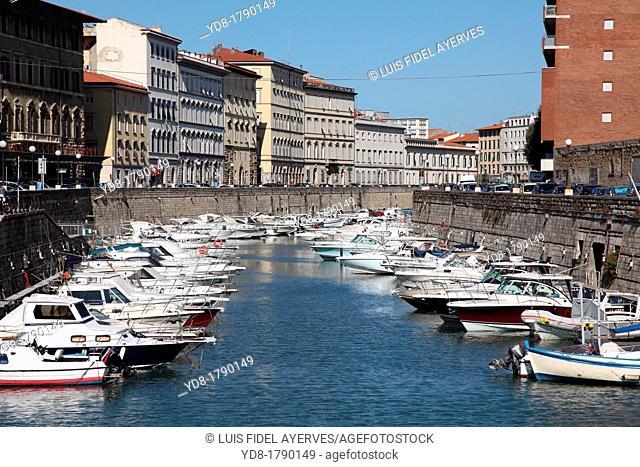 Fishing port, Livorno, Toscany, Italy, Europe