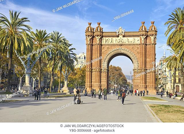 Arc de Triomf or Arco de Triunfo, Barcelona, Catalonia, Spain