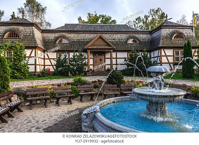 Replica of a manor house from Salino town in Centre for Education and Regional Promotion in Szymbark village, Kashubia region, Poland