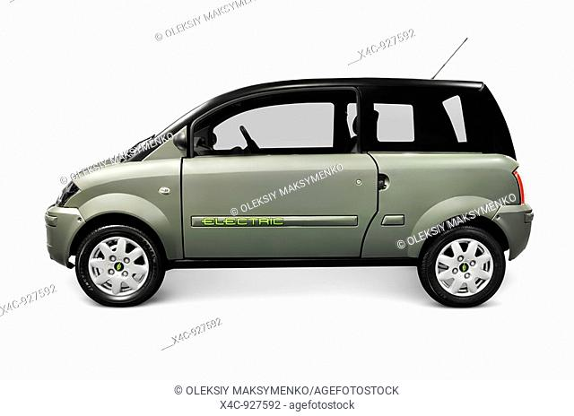 ZENN plugin electric car isolated on white background with clipping path