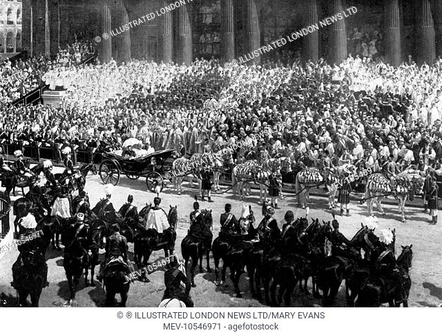 The Diamond Jubilee service outside St Paul's Cathedral, 22nd June 1897