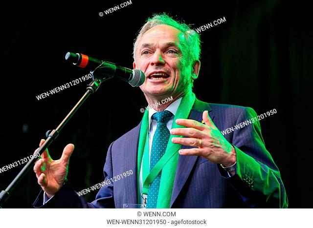 Hundreds of people attend St Patrick's Day celebrations in Trafalgar Square. Featuring: Richard Bruton TD Minister for Education Where: London