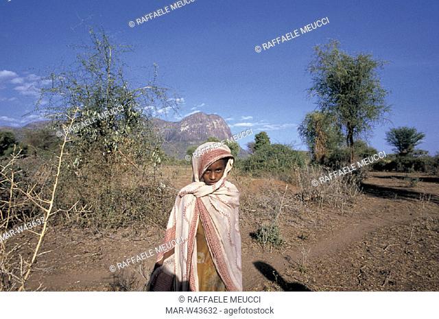 borana child, kenya