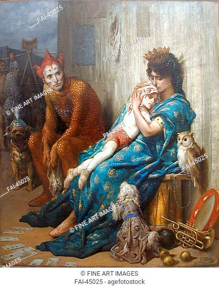 Entertainers also known as The Injured Child by Doré, Gustave (1832-1883)/Oil on canvas/Romanticism/1874/France/Musée d'Art Roger-Quilliot