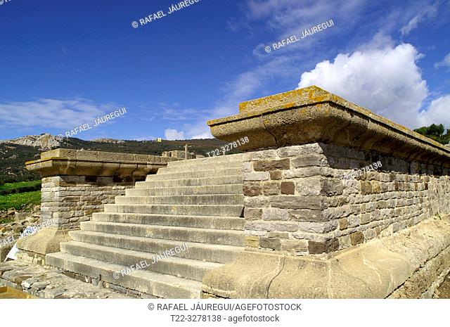 Rate (Spain). Stairs in the Roman city of Baelo Claudia