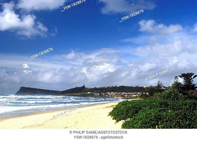 Ocean beach at Lennox Head on the North Coast of New South Wales, Australia