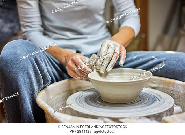 passionate female potter
