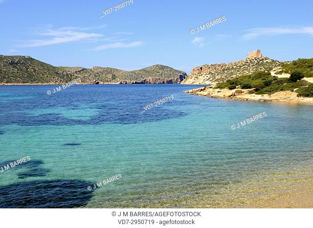 Cabrera Archipelago National Park, Natural harbor. Majorca, Balearic Islands, Spain