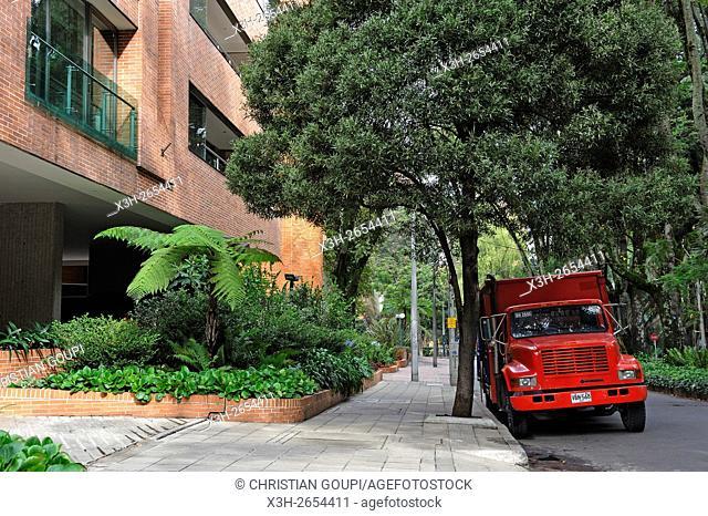 La Cabrera park, ''Zona Rosa'' residential area, Bogota, Colombia, South America
