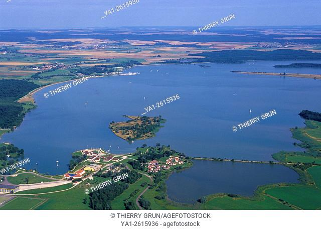 France, Meuse (55), Madine lake (aerial view)