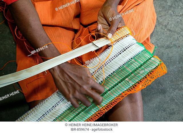 Weaving work, hospital, Butaweng, Papua New Guinea, Melanesia