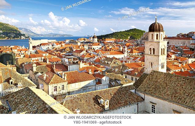 Croatia - Dubrovnik Old Town, view rom City Walls, Dalmatia, Croatia