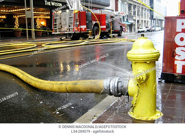 Fire in Downtown. Cincinnati. Ohio. USA