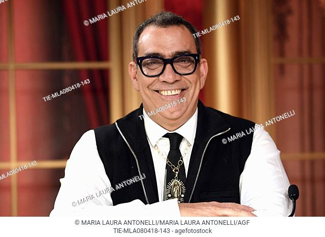 Guillermo Mariotto during the tv show Dancing with the stars, Rome, ITALY-07-04-2018