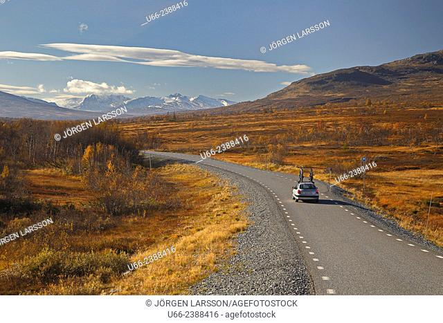 Road, Sylarna, Storulvån, Jämtland, Sweden