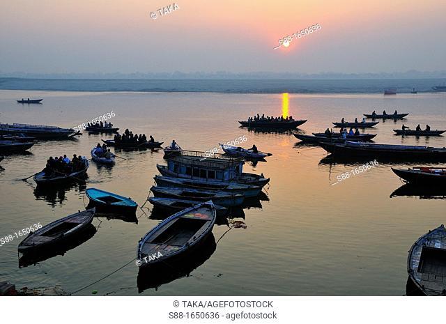 Sun rise in Varanasi