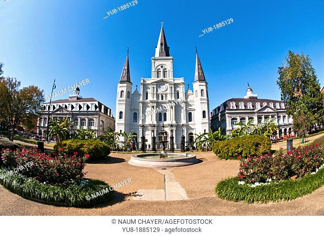 St  Louis Cathedral, New Orleans, state of Louisiana, USA, North America