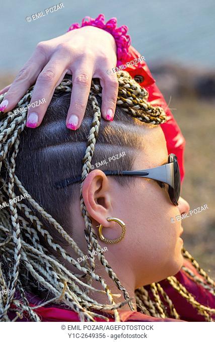 Elaborate female haircut