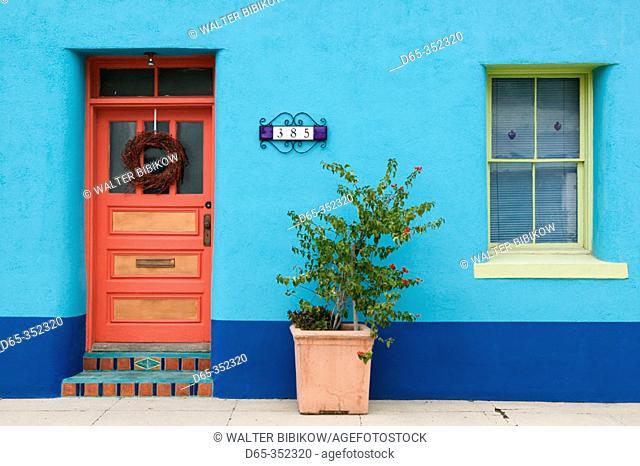 House detail in Presidio historic district. Tucson. Arizona, USA