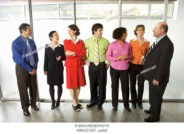 Group of offices workers