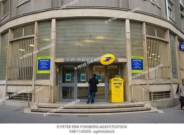 Post office 3rd arrondissement Le Marais district central Paris France Europe
