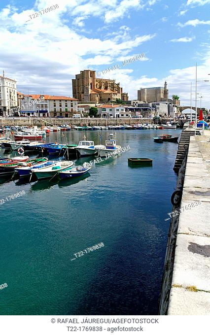 Castro Urdiales Cantabria Spain  Fishing port of Castro Urdiales
