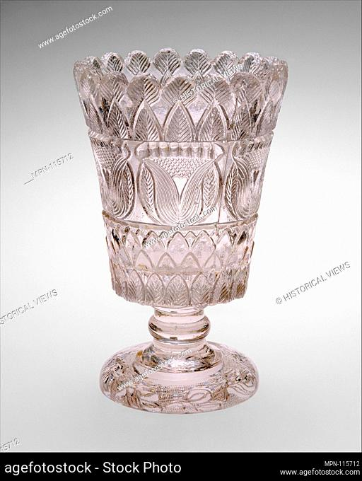 Celery vase. Maker: Attributed to Boston & Sandwich Glass Company (American, 1825-1888, Sandwich, Massachusetts); Date: 1827-35; Geography: Made in Sandwich